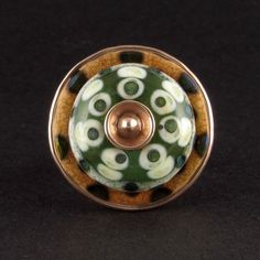Bowerbird Studio/Tabitha Pearson: Handmade lampwork glass bead set in copper. Sold. (scheduled via http://www.tailwindapp.com?utm_source=pinterest&utm_medium=twpin&utm_content=post16890438&utm_campaign=scheduler_attribution)