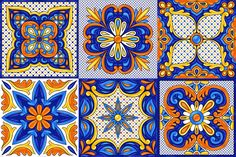 Italian pottery, portuguese azulejo or spanish majolica. Graphic Design Pattern, Graphic Patterns, Tile Patterns, Mexican Pattern, Paisley Art, Clay Art Projects, Talavera Pottery, Phone Wallpaper Images, Italian Pottery