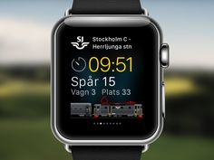 InterCity Nearing Departure – SJ's Min resa for Apple Watch by Max Rudberg for Bontouch