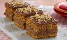 Bolo de amendoim com chocolate