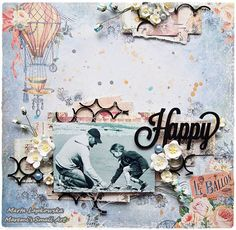 Hello everyone, I am back to you with my last projects created for Blue Fern Studios. It's time to say goodbye. Scrapbooking Layouts, Scrapbook Pages, Small Art, Hello Everyone, Fern, Studios, Artsy, Paper, Projects