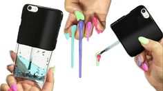 SUPER EASY - DIY Liquid Phone Case! DIY Nail Polish Phone Case! Click here to see how many coats of nail polish a bottle contains: https://www.youtube.com/wa...