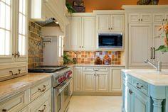 Bright Tiles #homedecor #kitchens