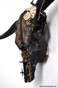 Hand Painted / REAL Animal Skull / Taxidermy / Wall Mount Skull / Swedish Bull Skull / Animal Bones. kr14.500,00, via Etsy.