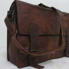 Mens Laptop Bag Macbook Leather Messenger Bags 17inches/inch Pure Genuine Handmade Soft Vintage Leather Briefcase Shoulder bag