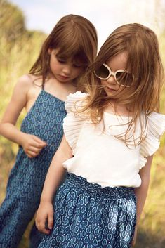 Peasant paisley style prints from Chloe kids fashion for spring/summer 2015