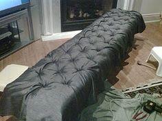 DIY Tufted Bench... Affordable prop