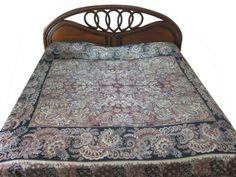 Amazon.com - Pashmina Cashmere Wool Jamawar Bedspreads Black Red Floral Paisley Motif Indian Bedding