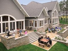 stone patio elevated the home project pinterest stone patios patios and porch - Back Porch Patio Ideas