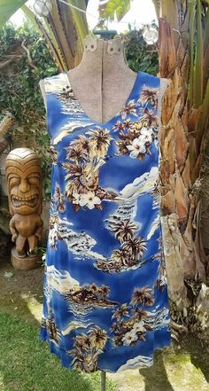 Hilo Hattie Hawaiian Aloha Tiki Tropical Ukulele Hibiscus Womens XS knee length | Clothing, Shoes & Accessories, Women's Clothing, Dresses | eBay!