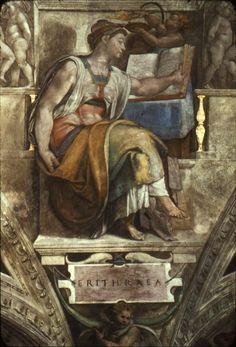 Sistine Chapel Ceiling: Sibyl Erithraea, 1512 - Michelangelo