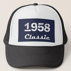 85499652 1958 Classic 60th Birthday Celebration Trucker Hat Dad 60th Birthday Gift,  60th Birthday Decorations,