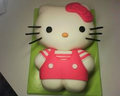 how to make a hello kitty cake | Hello Kitty Cakes | bigFATcook. This is what I want to make for Lilas birthday