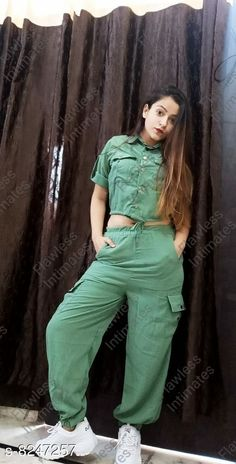 Jumpsuits Western Style Co-ord Sets Fabric: Polyester Sleeve Length: Short Sleeves Pattern: Solid Multipack: 2 Sizes:  S (Bust Size: 36 in Length Size: 52 in Waist Size: 28 in)  L (Bust Size: 40 in Length Size: 52 in Waist Size: 32 in)  M (Bust Size: 38 in Length Size: 52 in Waist Size: 30 in)  Country of Origin: India Sizes Available: S, M, L, XL   Catalog Rating: ★3.9 (507)  Catalog Name: Free Mask Trendy Modern Women Jumpsuits CatalogID_1376134 C79-SC1030 Code: 786-8247257-9901