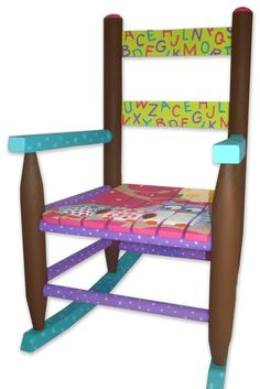 Handpainted Childrenu0027s Rocking Chair, Owls And Alphabet On Etsy, $185.00  Childs Rocking Chair,