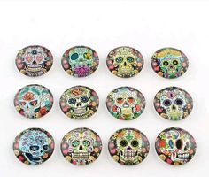 Check out this item in my Etsy shop https://www.etsy.com/uk/listing/514432154/10-round-12mm-cabochons-skull-printed