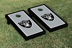 Oakland Raiders NFL Football Cornhole Game Set Border Version