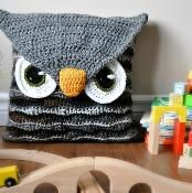 Owl Pillow Cover and Sleepover Bag - via @Craftsy