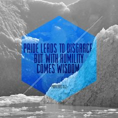 Pride leads to disgrace, but with humility comes wisdom.  Proverbs 11:2 NLT #proverbs #typography #wisdom #design #illustration #art #quotes