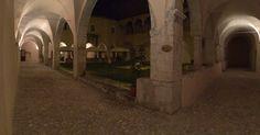 chiostro di sera. Cloister at night #weddingday #fontecchio #laquila #italy #food #location #abruzzofood