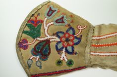 RARE Antique Metis Beadwork Gauntlet 19th C Native American Indian 1880's