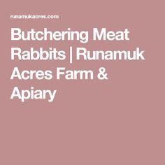 Butchering Meat Rabbits | Runamuk Acres Farm & Apiary