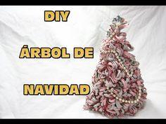 DIY ARBOL DE NAVIDAD PARA DECORAR DE TRAPILLO, DIY CHRISTMAS TREE DECORA...