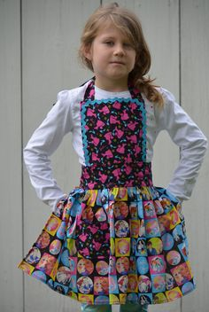 Barbie Apron Little Girls Ready to Ship size by pieshomecreations, $20.00
