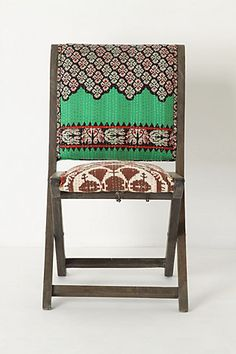fun folding chair from anthropologie.