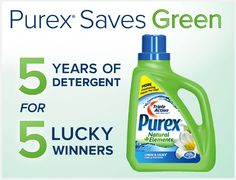 I love this stuff...  5 Years of detergent for 5 lucky winners - @Purex!