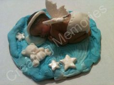 Baby Angel Cake Topper /BABY SHOWER Cake Decoration/Edible Cake Topper/Baby Fondant Cake Topper