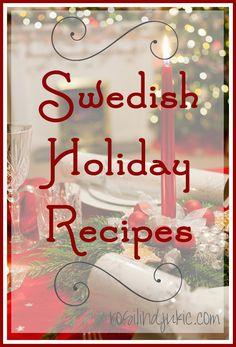 Swedish Holiday Recipes