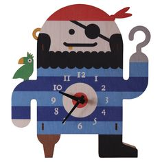 Pirate Clock by Modern Moose