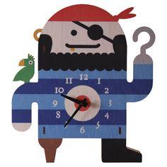 Pirate Clock  by Modern Moose