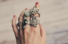 Oooh, the owl one is my favorite. $7.99  GroopDealz | Beautiful Cocktail Rings - 4 Styles