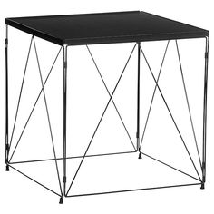 Oscar Wire Side Table - Charcoal