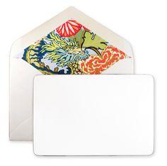 Schumacher Dragon Note Cards $60