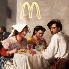 mcdonalds by via . Tag to get featured. For any Query please write us via DM. Classical Art Memes, Mode Poster, Photo Food, Street Art London, Art Jokes, Psy Art, Photocollage, Jolie Photo, Arte Pop