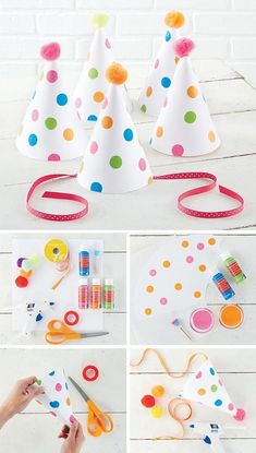 Chic Inspiration – 10 DIY Parties Ideas Planning a party? Get decorating ideas 10 Chic DIY Party Decorations. Birthday Party Hats, Baby Party, Diy Birthday, Birthday Treats, Elmo Party, Mickey Party, Dinosaur Party, Dinosaur Birthday, Festa Baby Alive