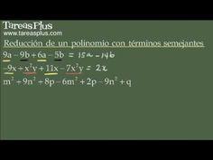 Reducción de polinomios con términos semejantes