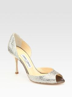 jimmy choo logan glitter d'orsay pumps    THEY'RE MINE, AND THEY'RE PERFECT! IT WAS MEANT TO BE!
