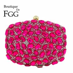 Women's Bags New Red Evening Bag Womens Metal Day Clutch Wallet Bride Wedding Purse Party Banquet Hand Bags Bringing More Convenience To The People In Their Daily Life Luggage & Bags