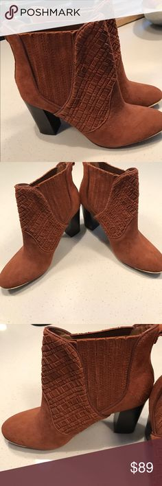 Elliott Lucca woven front wave boot Never worn- brand new! Has gold trim on the front. Elliott Lucca Shoes Ankle Boots & Booties