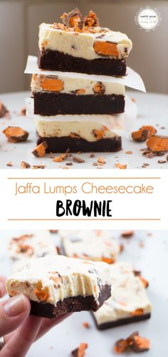 Combining the best of a cheesecake plus a brownie. It's AMAZING.