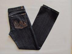 7 for all Mankind Jeans 31 Bootcut Peacock Midnight Mercer Graphite Dark Denim  #7ForAllMankind #BootCut