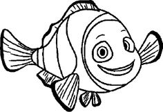 Finding Nemo Marlin Smile Finding Nemo Coloring Pages, Silhouette, Smile, Colors, Colour, Color, Paint Colors, Laughing, Hue