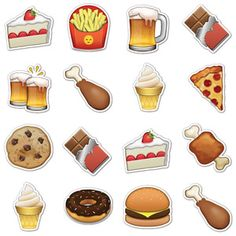 Junk Food Emojis, $16, now featured on Fab.