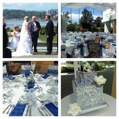 navy blue royal blue wedding - Inn at Laurel Point Victoria BC