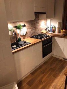 new kitchen cabinets Suprising White Kitchen Cabinet Design Ideas ~ Gorgeous House Kitchen Room Design, Kitchen Cabinet Design, Home Decor Kitchen, New Kitchen, Interior Design Living Room, Kitchen Dining, Kitchen Cabinets, Kitchen Hacks, Kitchen Backsplash