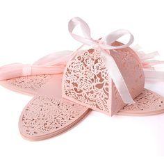 25 boîtes à dragées rose cage #Mariage #Wedding #BoîteADragées
